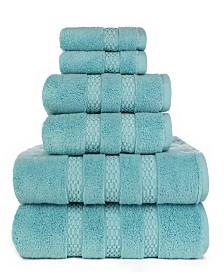 American Dawn Heirloom Manor Estella Lynx Fine Zero Twist 6 Piece Bath Towel Set