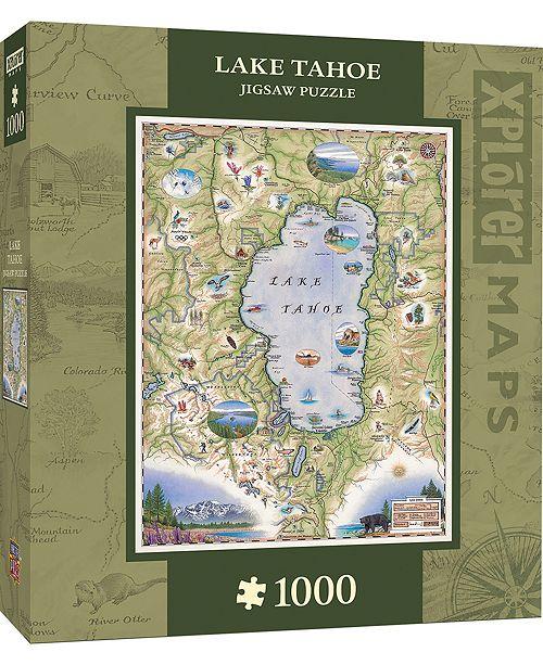 MasterPieces Puzzle Company Masterpieces Lake Tahoe 1000 Piece Xplorer Map Puzzle