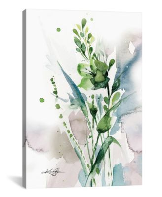 """Green Bliss I by Kathy Morton Stanion Wrapped Canvas Print - 26"""" x 18"""""""