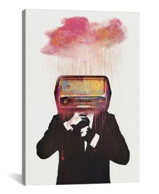 "Radiohead by Dv°Niel Taylor Wrapped Canvas Print - 26"" x 18"""