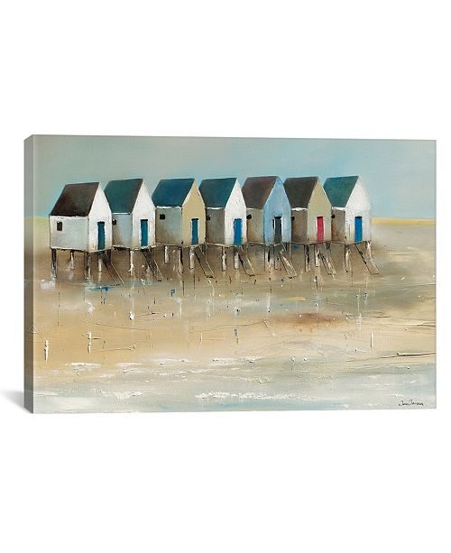 "iCanvas Beach Cabins I by Jean Jauneau Wrapped Canvas Print - 18"" x 26"""