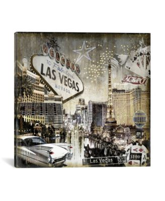 """Las Vegas by Dylan Matthews Wrapped Canvas Print - 18"""" x 18"""""""