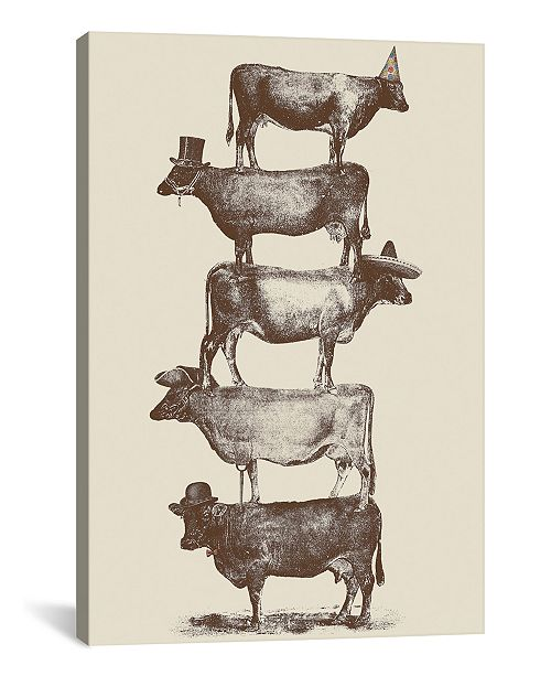 """iCanvas Cow Cow Nuts by Florent Bodart Wrapped Canvas Print - 26"""" x 18"""""""