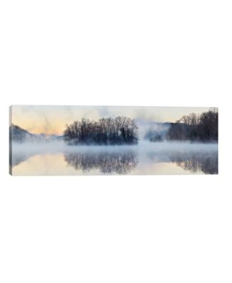 """Scene On The Water VIII by James Mcloughlin Wrapped Canvas Print - 12"""" x 36"""""""