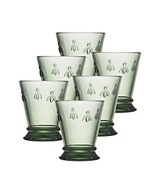 La Rochere Napoleon Bee Verdigris 10 oz. Tumbler, Set of 6