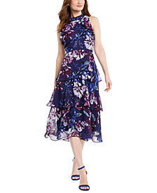 Vince Camuto Tiered Floral Dress