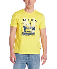 Men's Blue Sail Logo Graphic T-Shirt, Created for Macy's