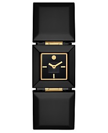 Tory Burch Women's Robertson Black Acetate Bracelet Watch 26mm