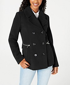 Juniors' Double-Breasted Peacoat, Created for Macy's