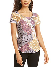 Graphic Floral-Print Top, Created for Macy's