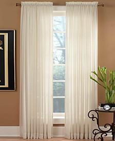 """Miller Curtains Sheer Preston Rod Pocket 51"""" x 84"""" Panel"""