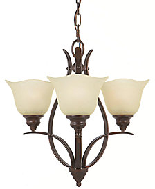 Feiss Grecian Bronze 3-Light Chandelier