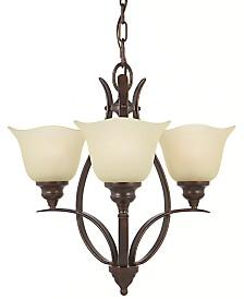 Feiss Grecian Bronze 3-Light Chandelier