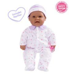 "La Baby Hispanic 16"" Soft Body Baby Doll Purple Outfit"