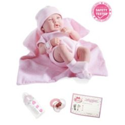 """La Newborn14"""" Real Girl Baby Doll Blue Outfit"""