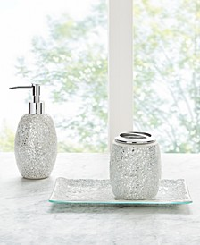 Decor Studio Alexia Mirrored Mosaic 3-Pc. Bath Accessory Set