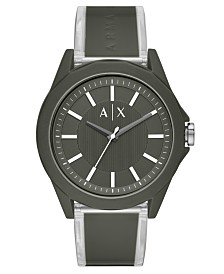 A|X Armani Exchange Men's Drexler Green Polyurethane Strap Watch 44mm
