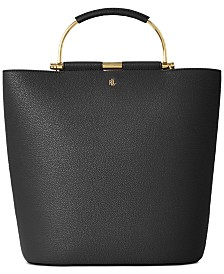 Lauren Ralph Lauren Pebbled Leather Leyton Tote