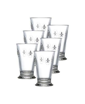 La Rochere Fleur De Lys 12-ounce Double Old Fashioned Glass, Set of 6.