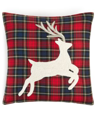 """Plaid Stag 18"""" x 18"""" Decorative Pillow, Created for Macy's"""