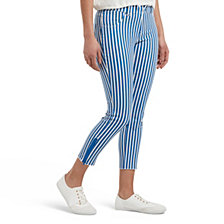 Hue Summer Stripe Ultra Soft Denim Capri