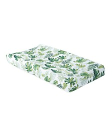 Little Unicorn Tropical Leaf Cotton Muslin Changing Pad Cover