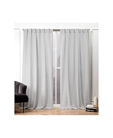 "Textured Matelasse Hidden Tab Top Curtain Panel Pair, 50"" X 96"""
