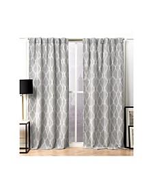"Circuit Blackout Hidden Tab Top Curtain Panel Pair, 52"" X 84"""
