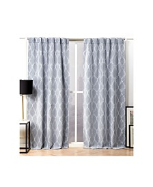 Nicole Miller Circuit Blackout Hidden Tab Top Curtain Panel Pair