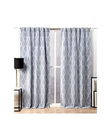 "Circuit Blackout Hidden Tab Top Curtain Panel Pair, 52"" X 96"""