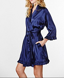 Plain Ruffle Robe, Online Only