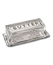 Crystal French Butter Dish with Lid