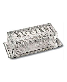 Bezrat Crystal French Butter Dish with Lid