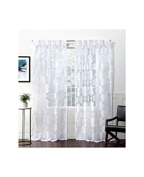 Rio Burnout Sheer Pinch Pleat Curtain