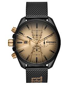 Diesel Men's Chronograph MS9 Black Stainless Steel Mesh Bracelet Watch 48mm