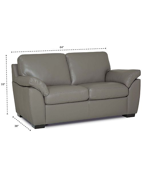 Excellent Lothan 64 Leather Loveseat Created For Macys Gmtry Best Dining Table And Chair Ideas Images Gmtryco