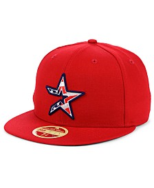 New Era Houston Astros Retro 2009 Stars and Stripes 59FIFTY Fitted Cap