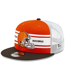 New Era Cleveland Browns Classic 77 Stripe Mesh 9FIFTY Cap