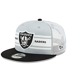 Oakland Raiders Classic 77 Stripe Mesh 9FIFTY Cap