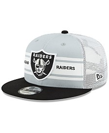 New Era Oakland Raiders Classic 77 Stripe Mesh 9FIFTY Cap