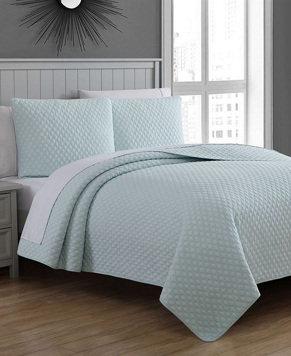 American Home Fashion Estate Fenwick King 3 Piece Quilt Set