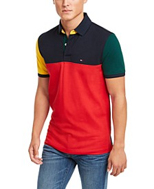 Men's Slim Fit Colorblocked Polo Shirt, Created For Macy's