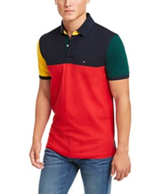 Tommy Hilfiger Men's Slim Fit Colorblocked Polo Shirt, Created For Macy's