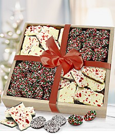 Holiday Belgian Chocolate Peppermint Bark & Nonpareil Gift Tray