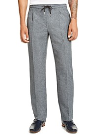 Men's Pleated Drawstring Pants, Created for Macy's