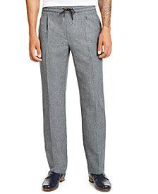 Alfani Men's Pleated Drawstring Pants, Created for Macy's