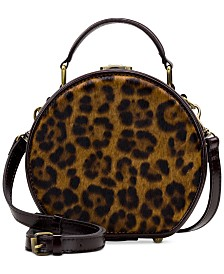 Patricia Nash Leopard Allier Hat Box Crossbody