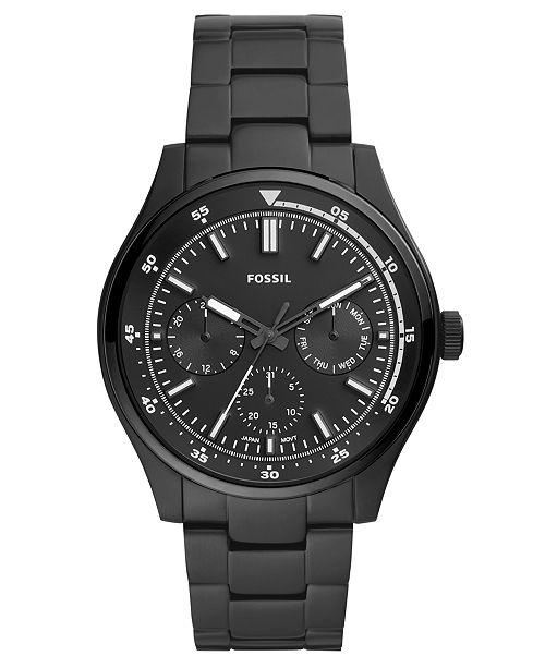 Fossil Men's Belmar Black Stainless Steel Bracelet Watch 44mm