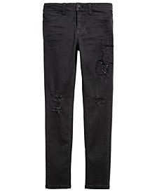 Imperial Star Big Girls Sequin Patch Jeans