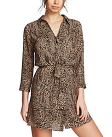 Leopard Printed Button-Front Dress